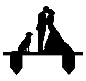 300x283 Wedding Cake Topper With Dog, Wedding Cake Topper With Pet, Couple