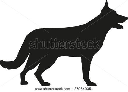 450x323 German Shepherd Clipart Silhouette