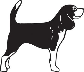 349x300 Short Haired Dogs Vector Silhouettes