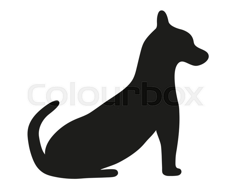 800x640 Silhouette Of A Painted Dog Vector Illustration Stock Vector
