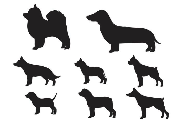 700x490 Silhouettes Of Dogs Vector
