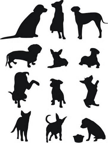 363x480 85 Free High Quality Silhouette Sets Dog Silhouette, Silhouettes