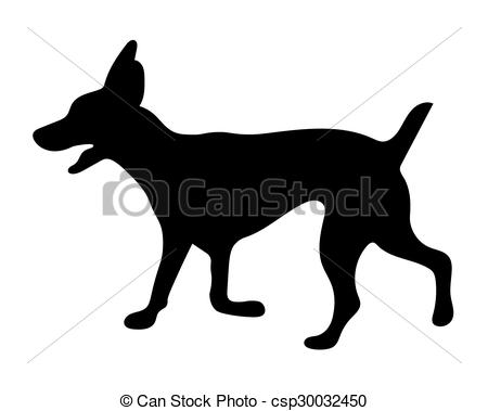 450x379 Black Silhouette Of Dog Clipart Vector