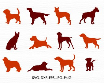 340x270 Silhouette Dog Etsy