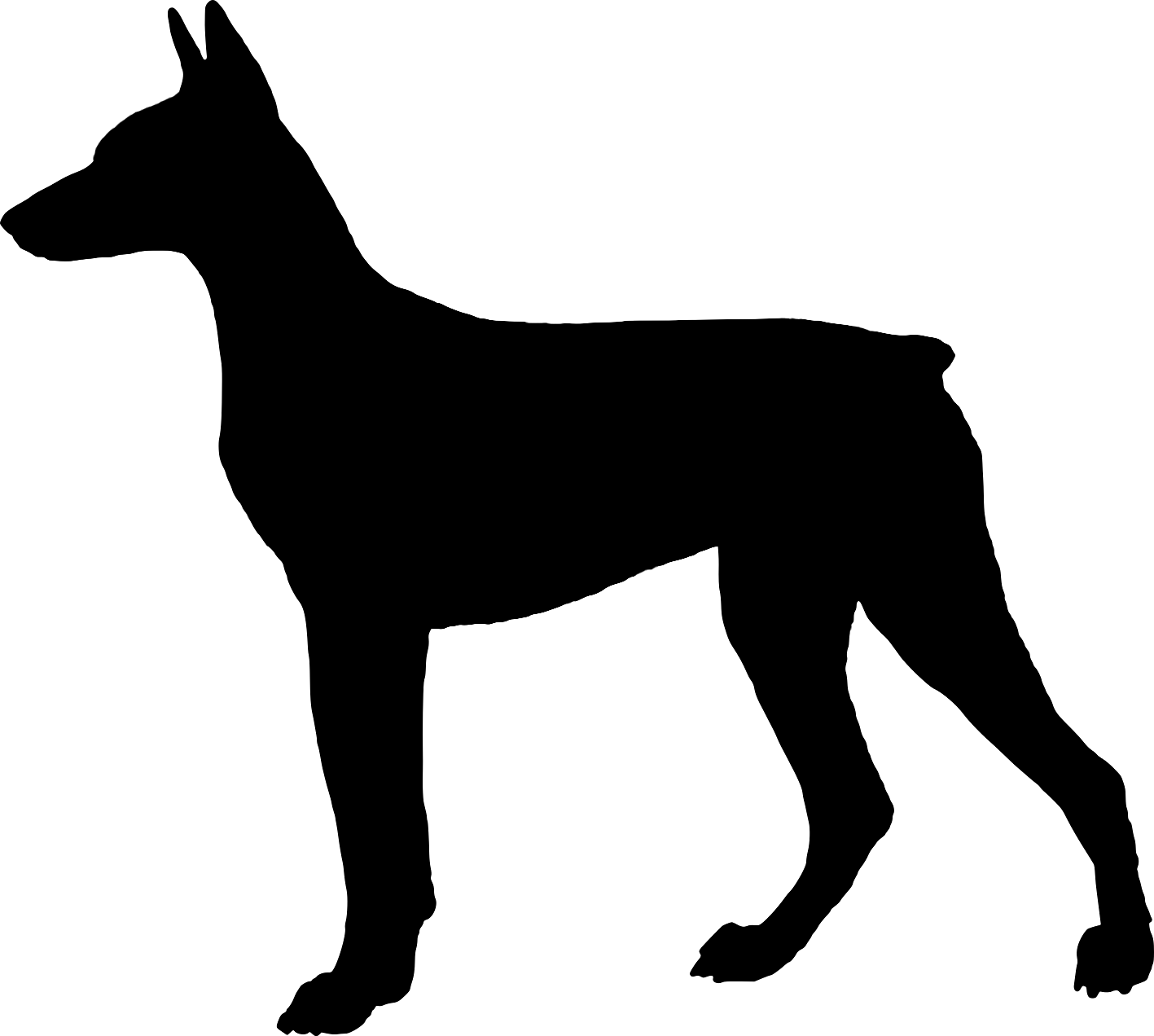 1417x1272 Dog Silhouette