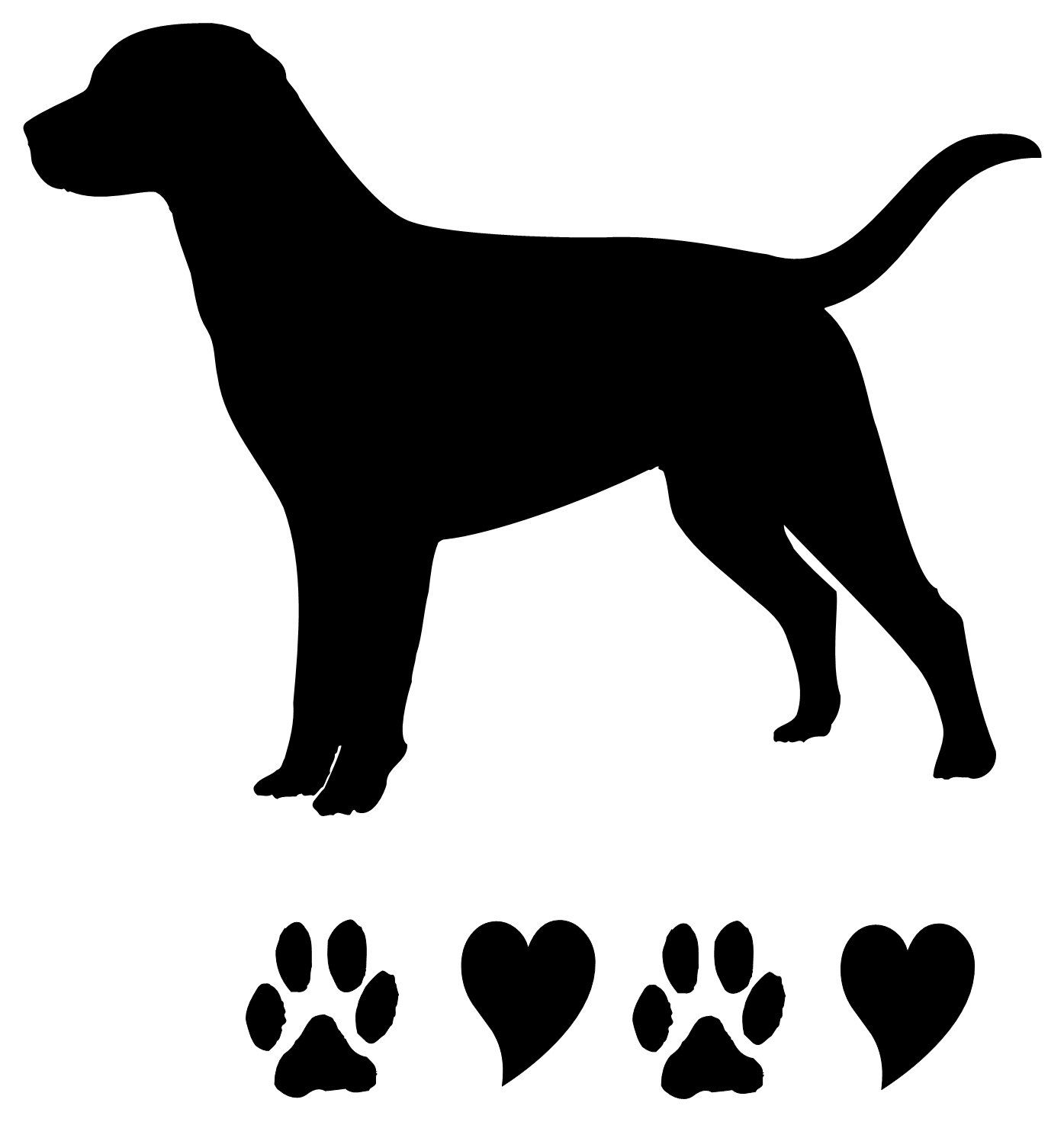 1395x1471 Black Lab Silhouette Clip Art Clipart Best Mako On Etsy