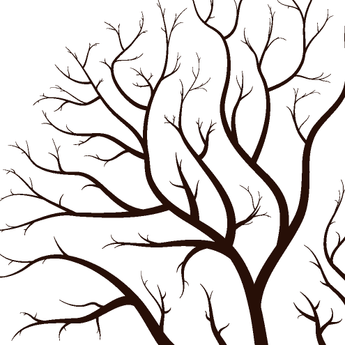 495x495 Tree Trunk And Branches Clipart