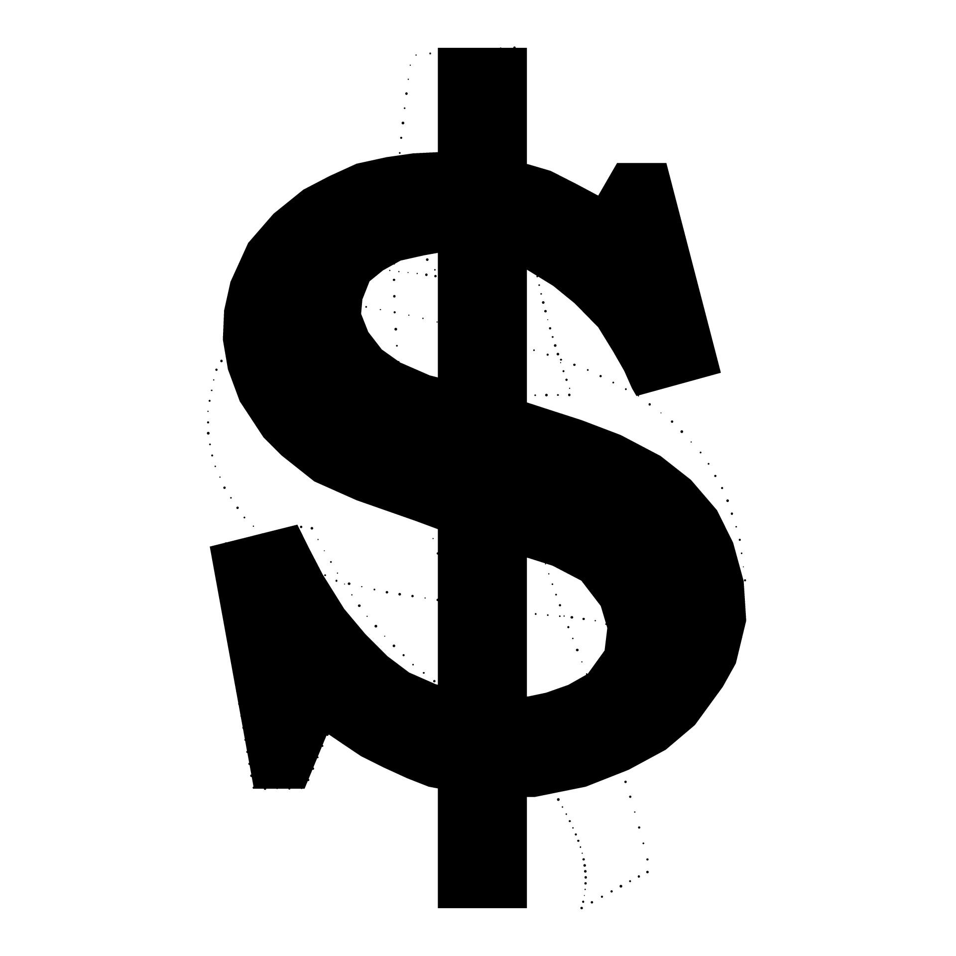 1920x1920 Dollar Sign Silhouette Free Stock Photo