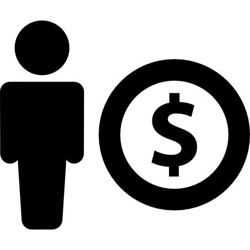 512x512 Silhouette With Dollar Symbol