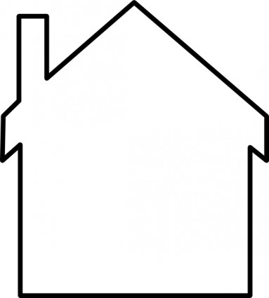 383x425 House Silhouette Clip Art Vector Clip Art Free Vector Free Download