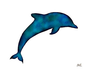 300x240 Dolphin Silhouette Paintings Fine Art America