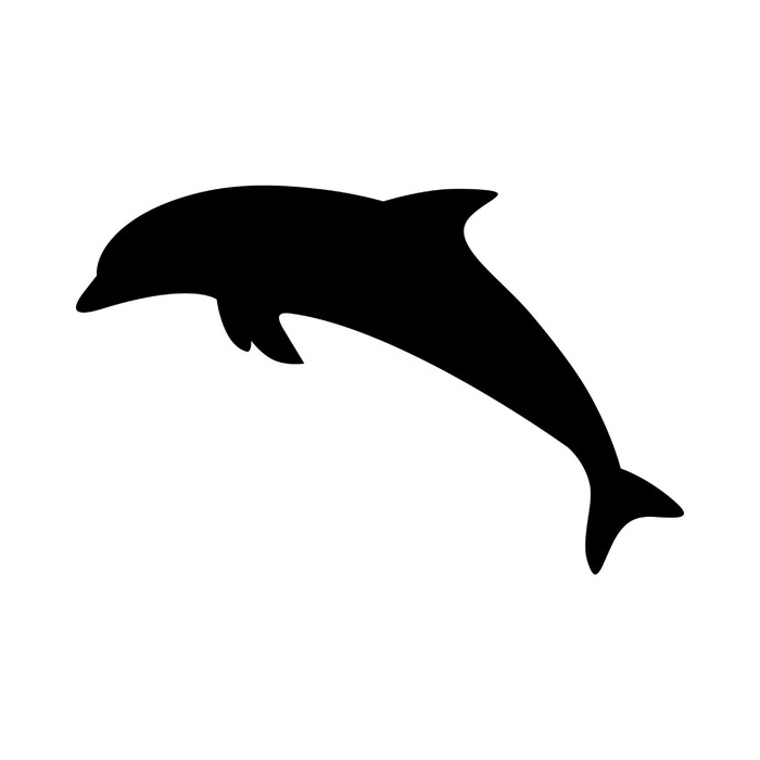 700x700 Dolphin Silhouette Sticker We Live To Change