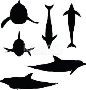 286x299 Dolphin Silhouette Premium Clipart