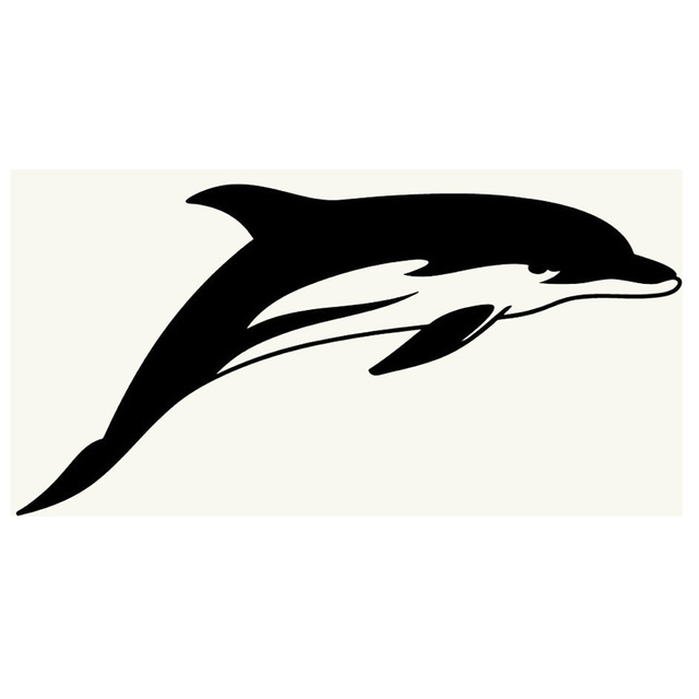640x640 Car Styling Novelty Dolphin Silhouette Jdm Sticker Car Window