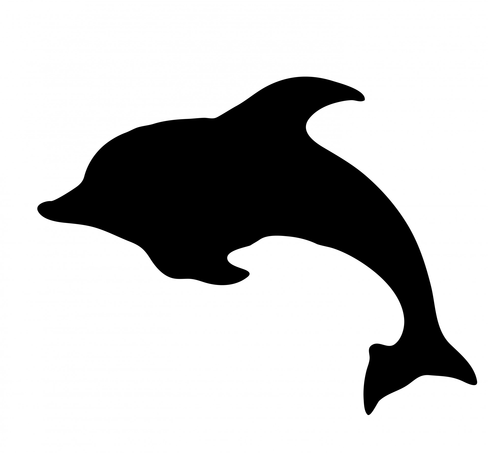 1920x1782 Dolphin Silhouette Clipart Free Stock Photo