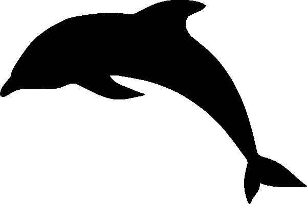 600x400 Dolphin Silhouette Clip Art