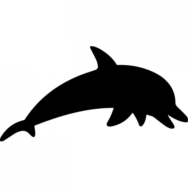 650x650 Dolphin Silhouette Wall Sticker Creative Multi Pack Wall Decal Art