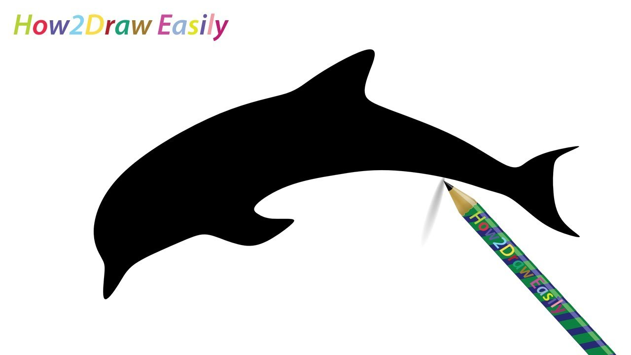 1280x720 How To Draw A Dolphin Silhouette Easy Step By Step Drawing