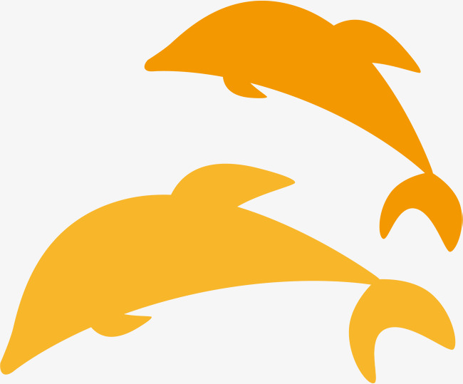 650x539 Dolphin Png Vector Element, Dolphin Vector, Yellow, Silhouette Png