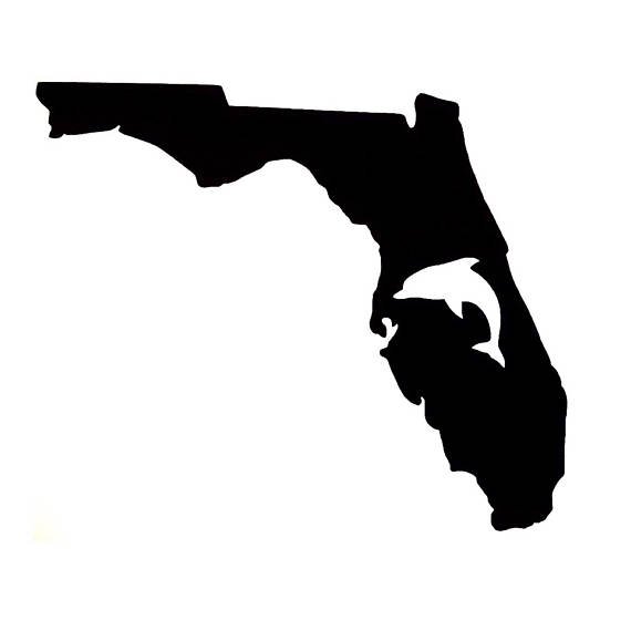 570x570 Florida Dolphin Decal Florida State Decal Dolphin Decal Vinyl
