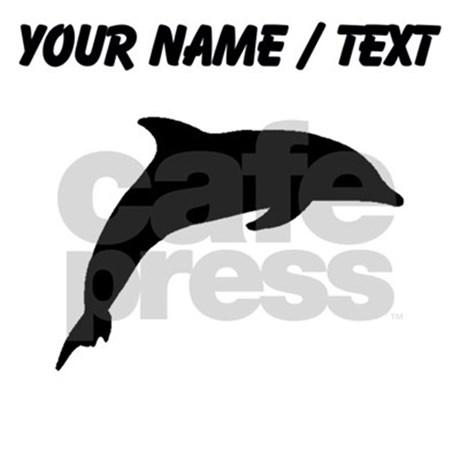 460x460 Custom Dolphin Silhouette Sports Bottle By Customanimalsilhouette