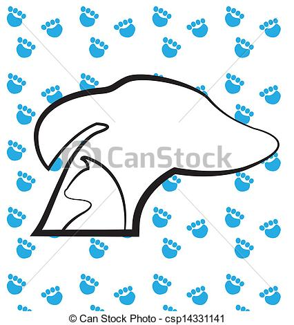 426x470 Dog And Cat Heads Silhouettes Logo With Blue Paws Prints Eps