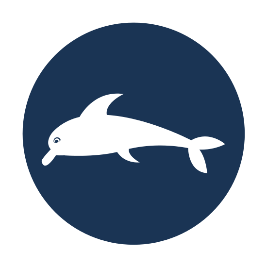 550x550 Dolphin Silhouette Icon