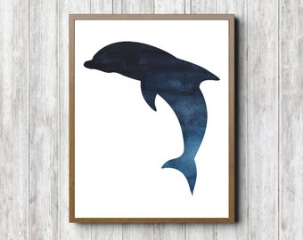 340x270 Dolphin Silhouette Etsy