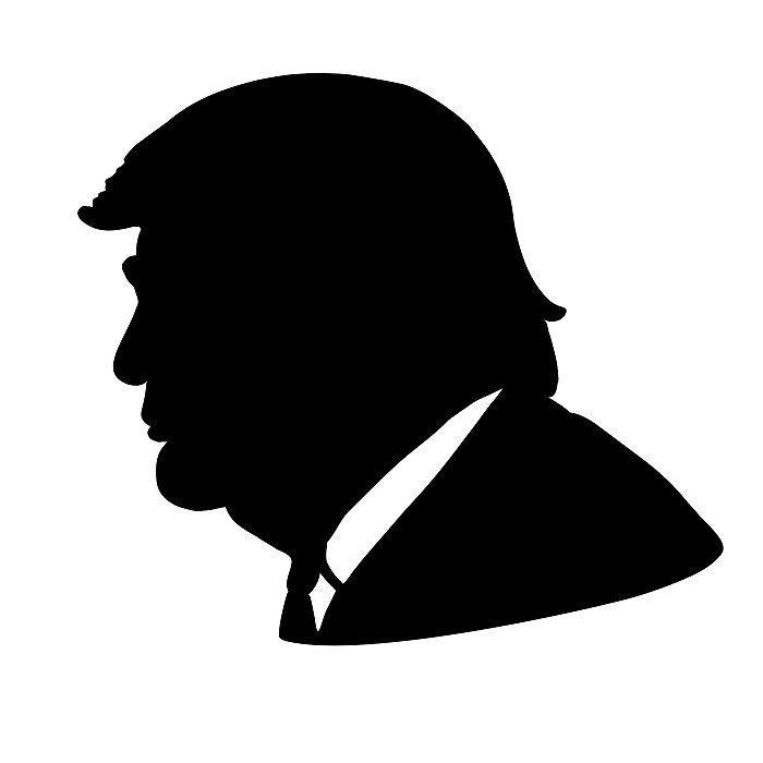 700x700 Trump Silhouette By Polytics Redbubble