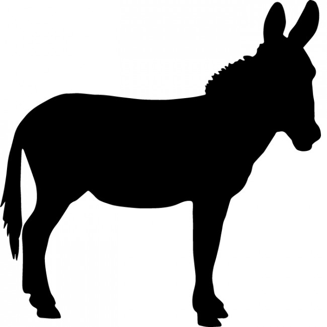 650x650 Donkey Silhouette Wall Sticker Creative Multi Pack Wall Decal Art