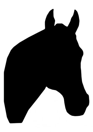 318x450 Horse Head Silhouette Wall Decal By Wallmonkeys Peel