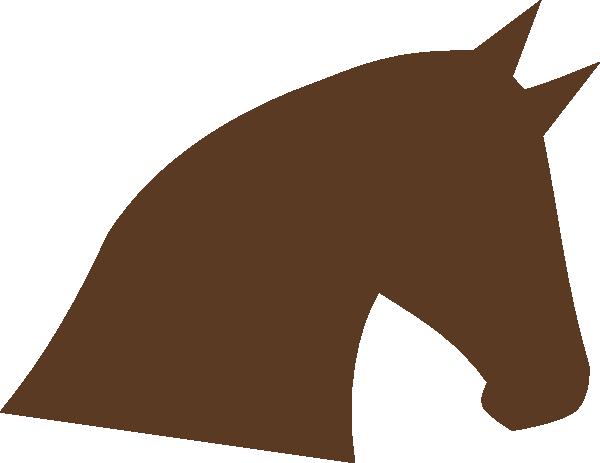 600x463 Horse Head Silhouette Clip Art