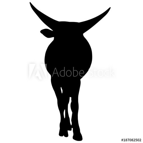 500x500 Ox Silhouette Vector Graphics