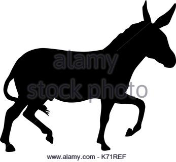 347x320 Donkey Silhouette Isolated Icon Vector Illustration Design Stock