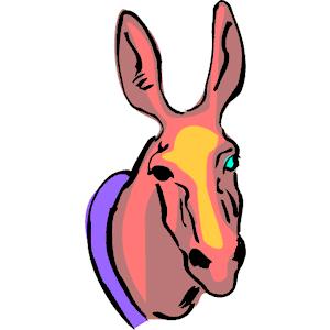 300x300 Donkey Head Silhouette Clipart