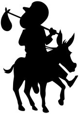 163x235 Donkey Silhouette Premium Clipart