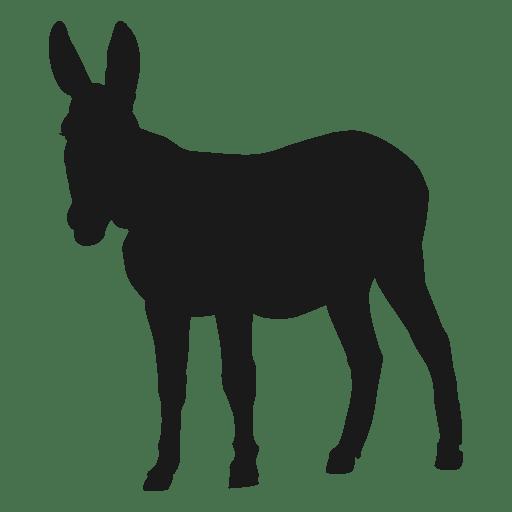 Donkey Mule Silhouette Donkeys Burro Democrat Graphic Decal Sticker Vinyl