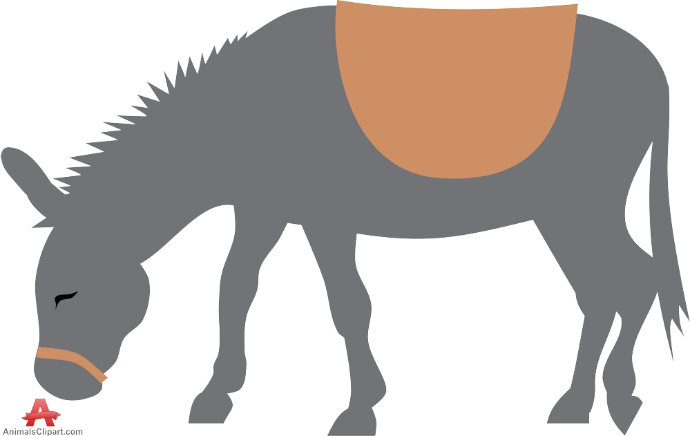 999x631 Grazing Donkey Silhouette Free Clipart Design Download