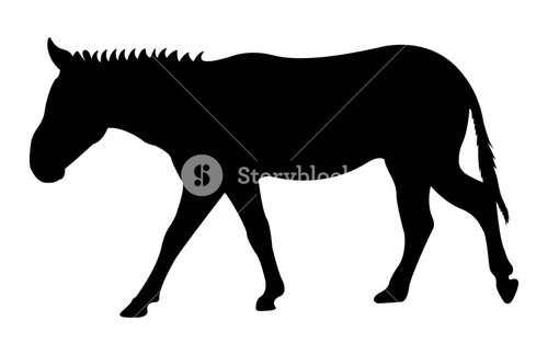 500x324 Donkey Animal Silhouette Royalty Free Stock Image
