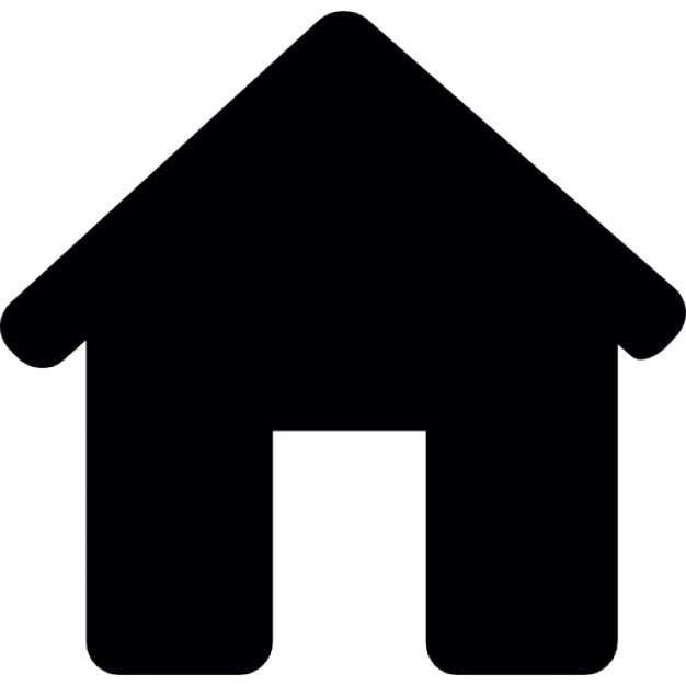 626x626 House Black Silhouette Without Door Icons Free Download