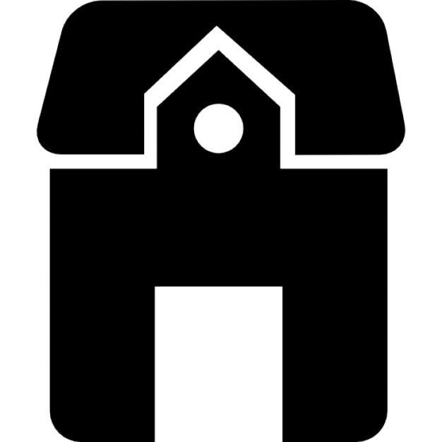 626x626 House With Big Door Silhouette Icons Free Download