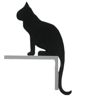 400x400 Silhouette Cat Sitting Door Or Window Frame Ornament