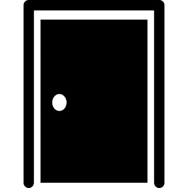 626x626 Closed Door With Border Silhouette Icons Free Download