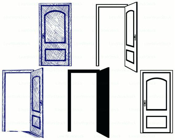 570x456 Door Silhouette Hot Girl The Door Vector Open Door Silhouette