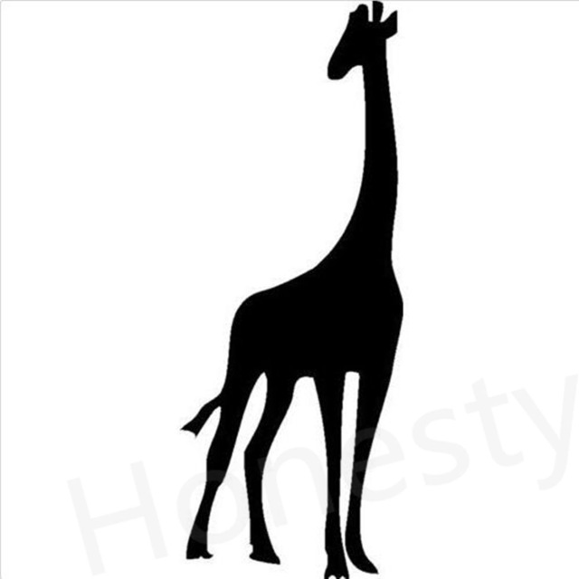 640x640 Giraffe Standing Silhouette Car Wall Home Glass Window Door Car