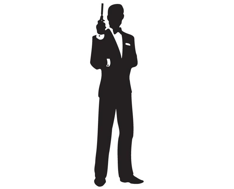 769x622 James Bond Silhouette Clipart