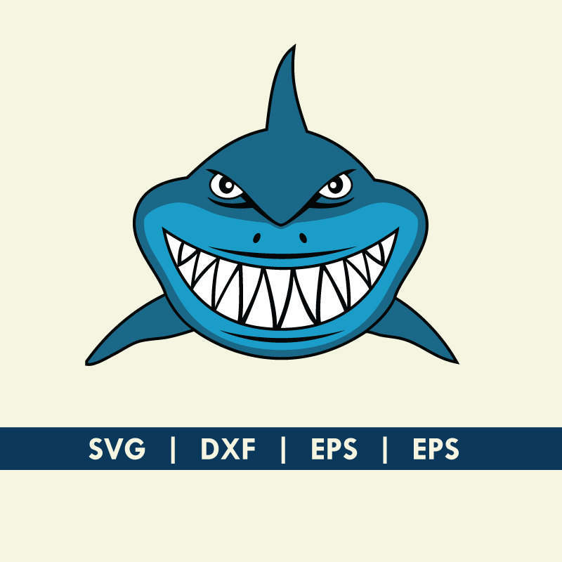 800x800 Shark Face Smile Finding Nemo Bruce Svg Dxf Silhouette Cameo