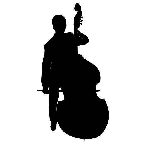 Double Bass Silhouette