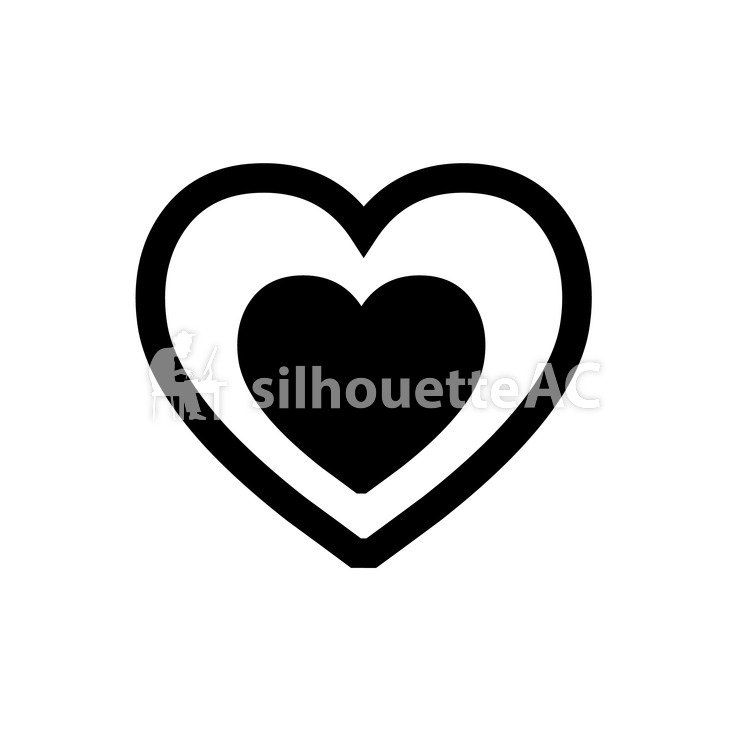 750x750 Free Silhouette Vector Two, Love, Tiny, Icon