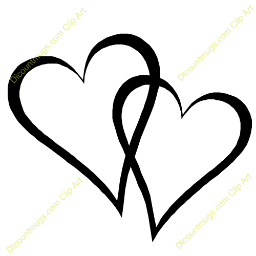 double heart silhouette at getdrawings com free for personal use rh getdrawings com free double heart wedding clipart double heart clipart free